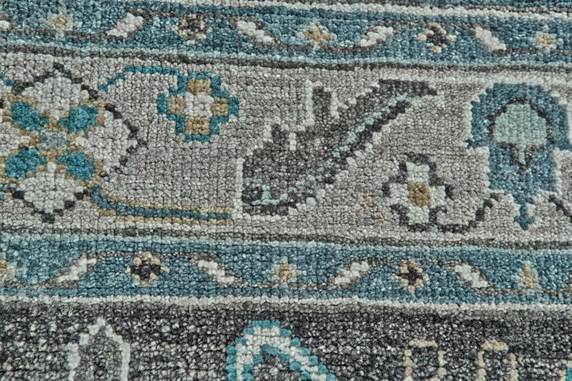 Ustad 6111f dblgry hand knotted area rug alexanian for Alexanian area rugs