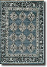 Ustad-6111F-DBLGRY Hand-Knotted Area Rug