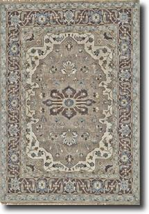 Ustad-6112F-IVYWAL Hand-Knotted Area Rug