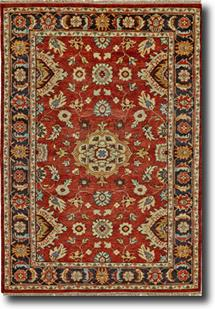 Ustad-6110F-REDBLK Hand-Knotted Area Rug