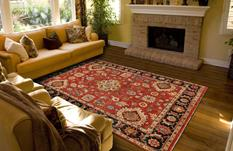 Ustad-6110F-REDBLK Room Lifestyle Hand-Knotted Area Rug detail