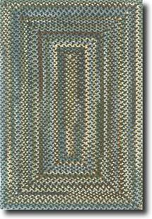 Bear Creek Concentric Rect.-980-775-Java Braided Area Rug