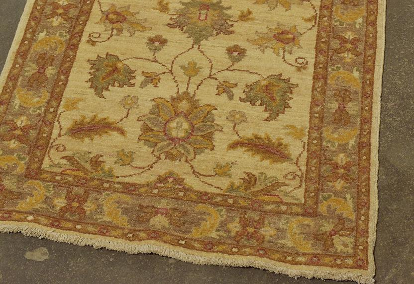 Attock-LA-35k-ivory orange taupe Hand-Knotted Area Rug collection texture detail