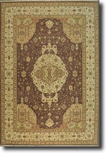 Indo-Ghazni-LM-40k-mocha brown beige taupe grey Hand-Knotted Area Rug