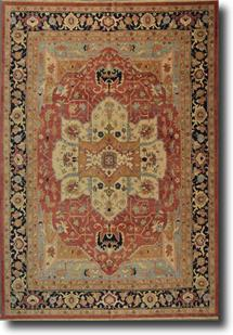 Serapi MT-GM-30k-rust black ivory blue Hand-Knotted Area Rug