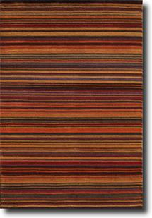 Monteray-Stripe-Red Hand-Knotted Area Rug