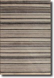 Monteray-Stripe-Black Hand-Knotted Area Rug