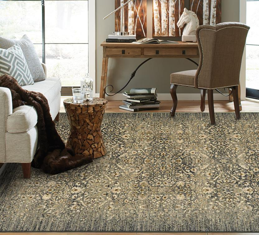 Titanium-39400-16006 Room Lifestyle Machine-Made Area Rug detail