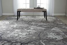 Divine-DIV01-CHARC Room Lifestyle Hand-Knotted Area Rug detail