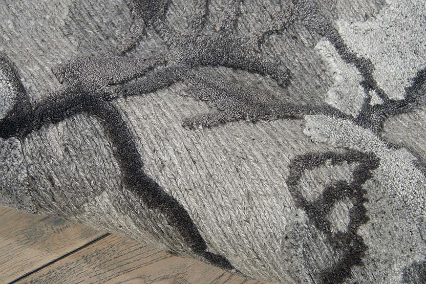 Divine-DIV01-CHARC Hand-Knotted Area Rug collection texture detail