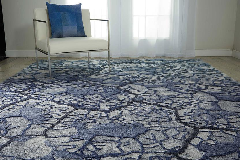 Divine-DIV02-MIST Room Lifestyle Hand-Knotted Area Rug detail