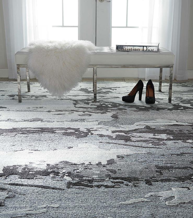Divine-DIV07-SMOKE Hand-Knotted Area Rug collection texture detail