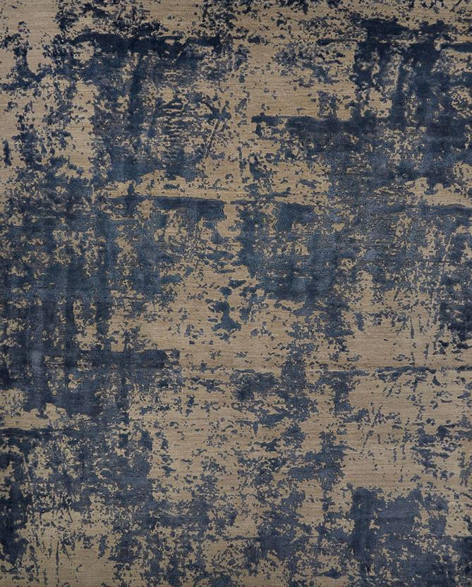 Project Error by Kavi-PRE05-Elephant Skin Dark Blue Hand-Knotted Area Rug