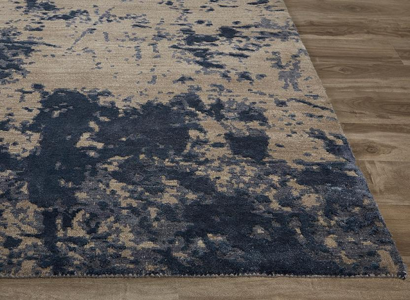 Project Error by Kavi-PRE05-Elephant Skin Dark Blue Hand-Knotted Area Rug collection texture detail