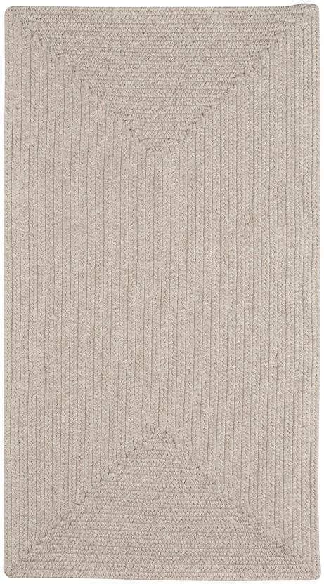 Simplicity Concentric Rect.-865-650-Linen Indoor-Outdoor Area Rug