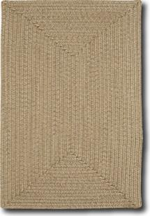 Simplicity Concentric Rect.-865-700-Flax Indoor-Outdoor Area Rug