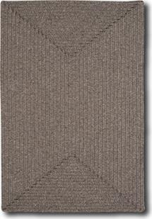 Simplicity Concentric Rect.-865-750-Wood Indoor-Outdoor Area Rug