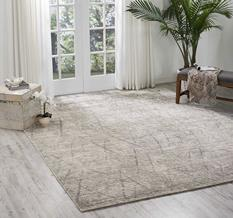 Ocean-OCP02-ASH Room Lifestyle Hand-Knotted Area Rug detail