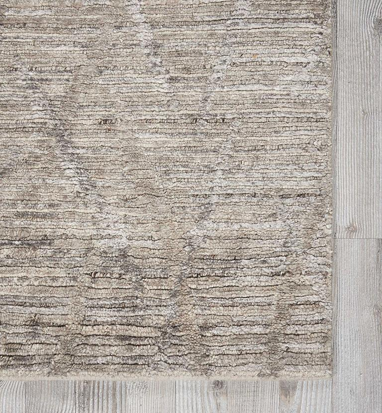 Ocean-OCP02-ASH Hand-Knotted Area Rug collection texture detail