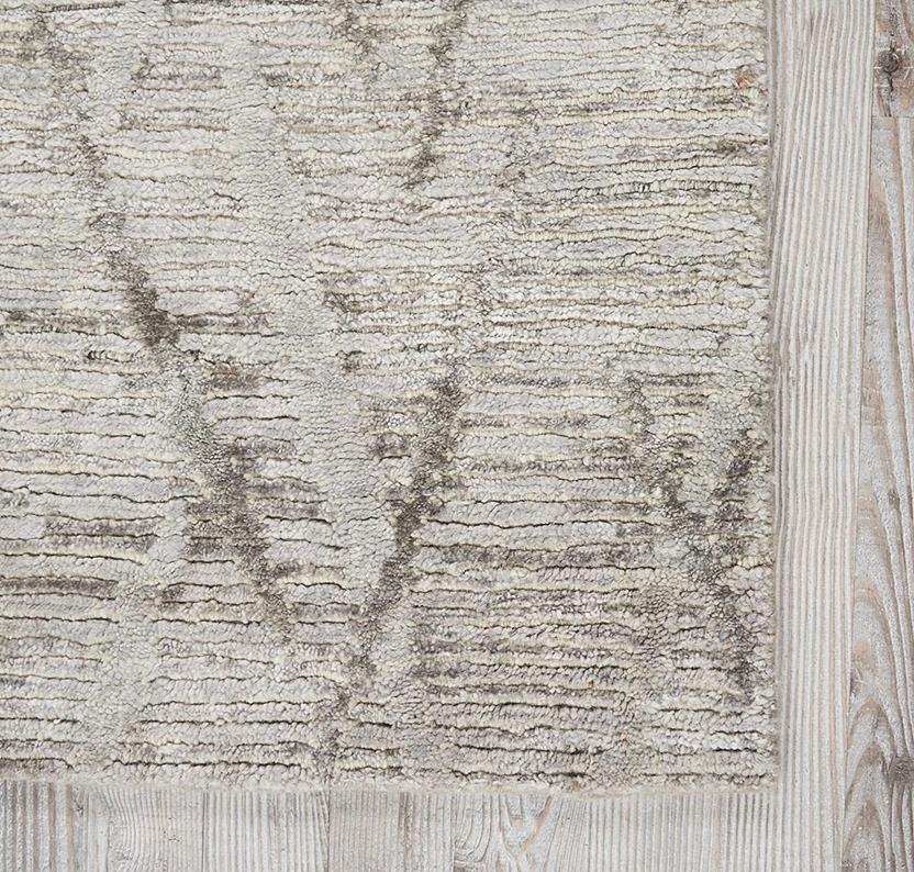Ocean-OCP02-STONE Hand-Knotted Area Rug collection texture detail