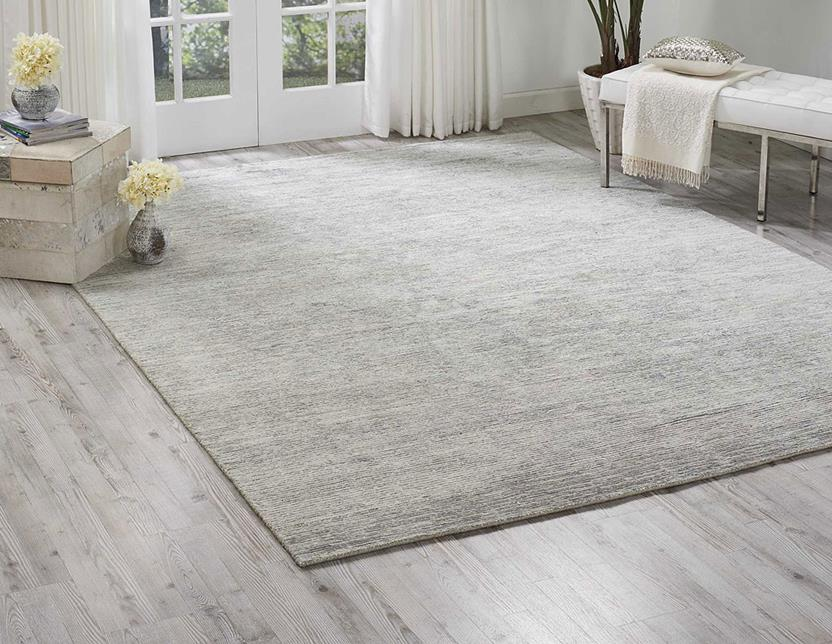 Ocean-OCS01-MIST Room Lifestyle Hand-Knotted Area Rug detail