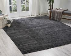 Ocean-OCS01-ONYX Room Lifestyle Hand-Knotted Area Rug detail