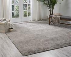 Ocean-OCS01-PEBBL Room Lifestyle Hand-Knotted Area Rug detail