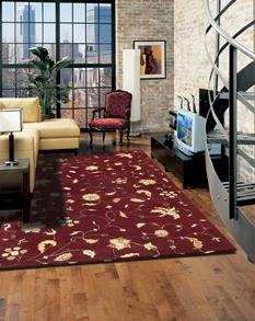 Transitions-RT892-Red Room Lifestyle Hand-Tufted Area Rug detail