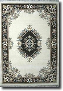 Banaras-133-White Natural Hand-Tufted Area Rug