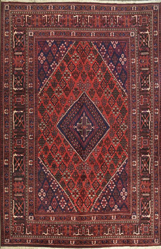 Persian Joean Gm 30k Burgundy Black Ivory Hand Knotted Area Rug