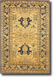 Kazak-KZT-61-Gold Blue Hand-Knotted Area Rug