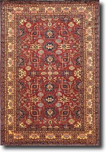 Kazak-KZT-8-Red Hand-Knotted Area Rug
