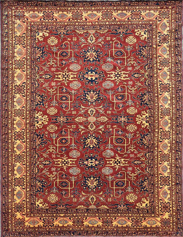 Kazak Kzt 8 Red Hand Knotted Area Rug