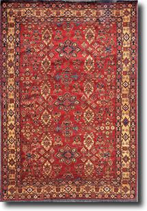 Kazak-KZT-7-Red Gold Hand-Knotted Area Rug