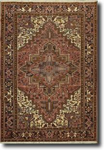 Persian Heriz-GM-30k-rust black ivory brown Hand-Knotted Area Rug