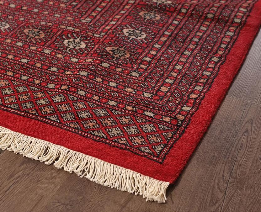 Bokhara-Mori-1025-9-Red Hand-Knotted Area Rug collection texture detail