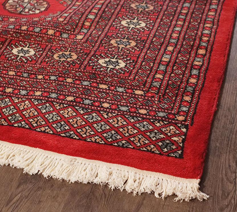 Bokhara-Mori-1033-12-Red Hand-Knotted Area Rug collection texture detail