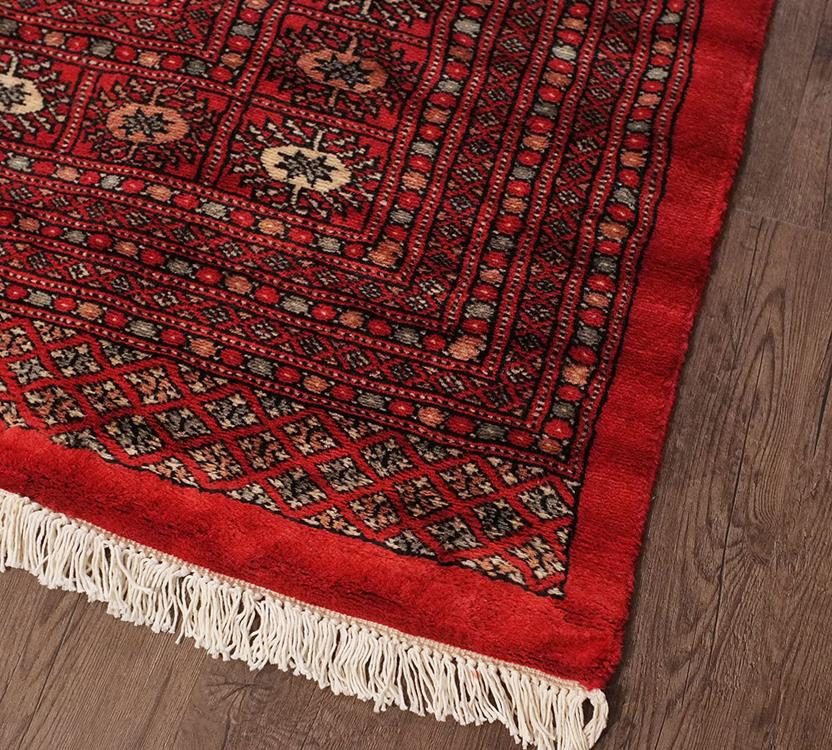 Bokhara-Mori-1037-14-Red Hand-Knotted Area Rug collection texture detail