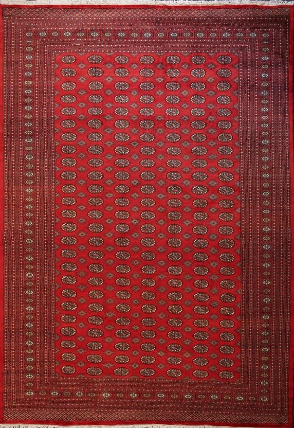 Bokhara-Mori-1037-14-Red Hand-Knotted Area Rug