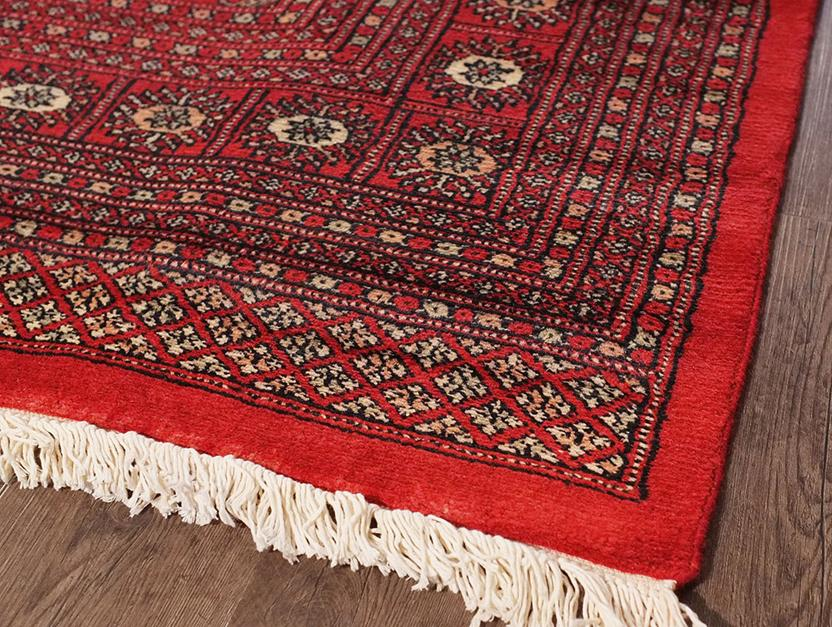 Bokhara-Mori-1038-15-Red Hand-Knotted Area Rug collection texture detail