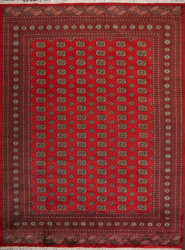 Bokhara-Mori-1040-15-Red Hand-Knotted Area Rug
