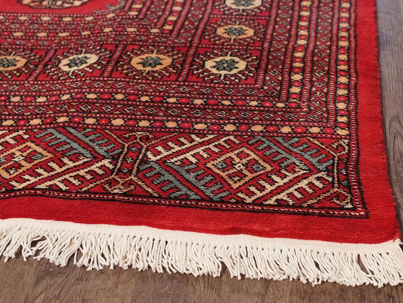 Bokhara-Mori-1040-15-Red Hand-Knotted Area Rug collection texture detail