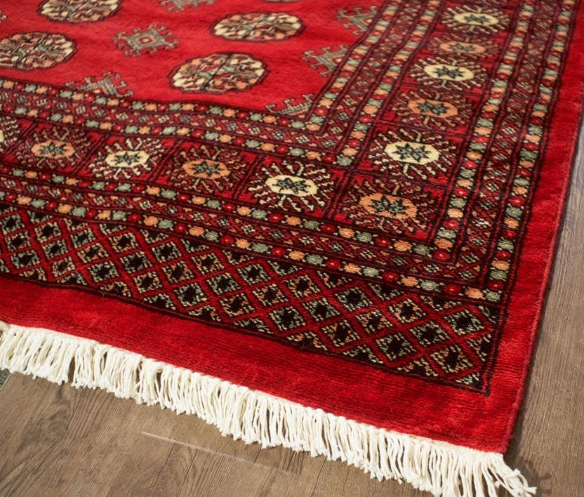 Bokhara-Mori-1047-18-Red Hand-Knotted Area Rug collection texture detail