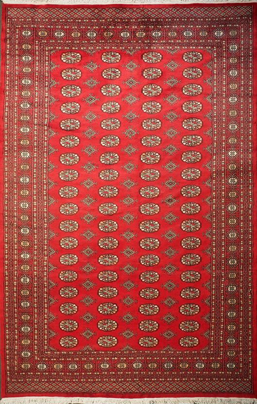 Bokhara-Mori-1049-18-Red Hand-Knotted Area Rug