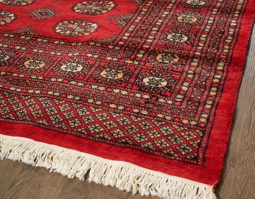 Bokhara-Mori-1049-18-Red Hand-Knotted Area Rug collection texture detail