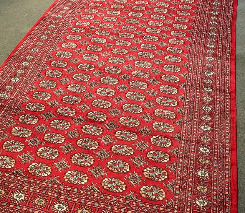 Bokhara-Mori-1050-18-Red Hand-Knotted Area Rug collection texture detail