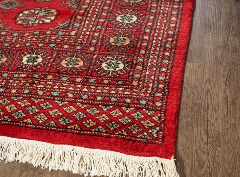 Bokhara-Mori-1054-19-Red Hand-Knotted Area Rug collection texture detail