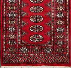 Bokhara-Mori-1079-23-Red Hand-Knotted Area Rug collection texture detail