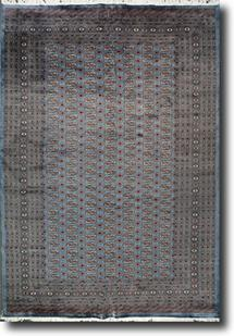 Bokhara-Mori-MB9010-8-Grey Hand-Knotted Area Rug