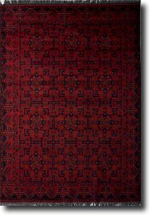 Khal Mohammedi-KM-802-Deep Red Hand-Knotted Area Rug